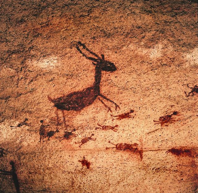 Animais foram bastante retratados nos paredões da Serra da Capivara, foto de Ambiental Turismo, agosto de 2011