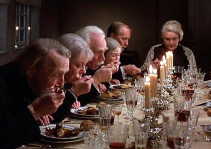 "O banquete do filme ""A Festa de Babette"""