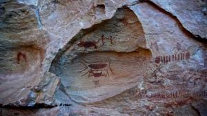 Arte rupestre registrada por Marco del Fiol* julho de 2008