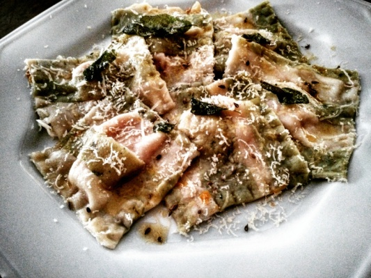 Ravióli de abóbora e sálvia, ou zucca e salvia, do blog Le Brugnoli
