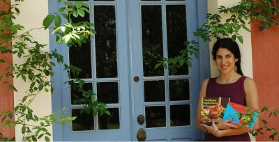 Rita com seus livros