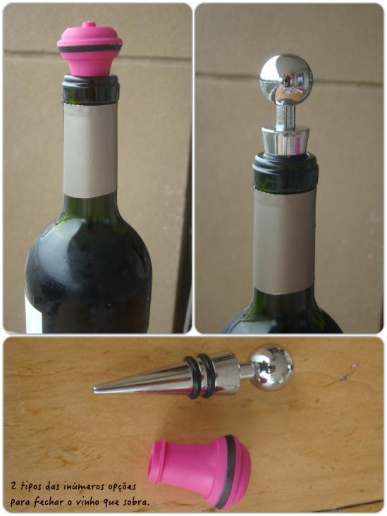 Acessórios importantes para fechar a garrafa - foto do blog Eu Levo o Vinho