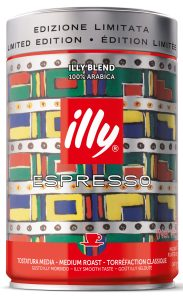 Lata da illy art collection assinada por Gillo Dorfles
