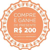 Vale presente para R$ 200 em cápsulas da própria Nespresso