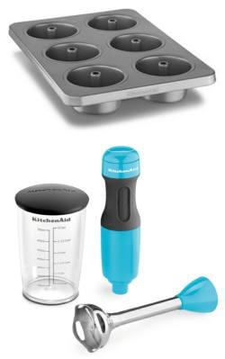 Forma antiaderente 6 tubos, R$ 107,60 e mixe de mão 2 velocidades Cristal Blue, R$ 215,55