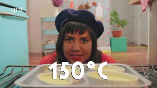 O forno deve estar a 150 graus centígrados