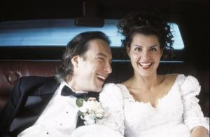 Os noivos do filme Casamento Grego