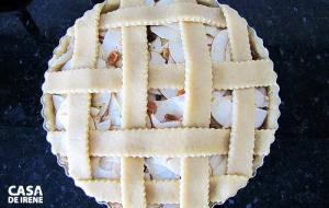 Torta de maçã antes de ir para o forno